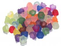 Lucite Blüte Glöckchen, ca 10 x 6 mm, Farbmix, 20 Stück