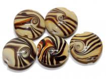 Button Karamell, 5 Stück
