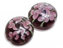 Rosa Blüten, 2 Stück
