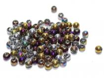 Perle, ca. 4 mm, metallic mix, 100 Stück