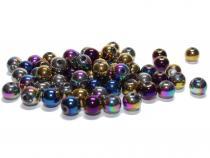 Perle, ca. 8 mm, metallic mix, 50 Stück