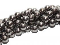 Muschelkernperle AAA, smaragd-schwarz, 10mm, Strang