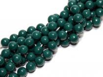 Muschelkernperle AAA, dunkelgrün, 6 mm, Strang