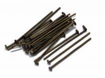 Nietstifte, bronzefarben, 20/07 mm, 100 Stück