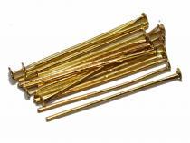 Nietstifte, goldfarben, 30/07 mm, 100 Stück