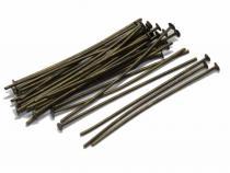 Nietstifte, bronzefarben, 35/07 mm, 100 Stück