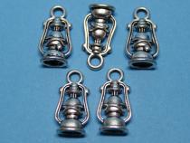 Lampe, Petroleumlampe, ca. 20 x 10 x 6 mm, 5 Stück