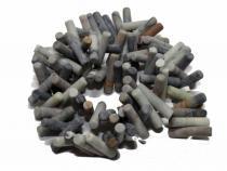 Picasso Jaspis Zylinder, Stäbchen, ca. 20 x 4 mm, matt, Strang
