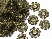 Filigrane Perlenkappen, bronzefarben, ca. 20 mm, 20 Stück