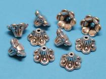 Perlenkappen Kelch, ca. 10 x 6 mm, 10 Stück