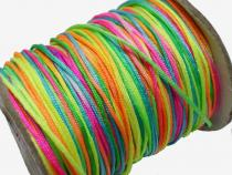 0,24 €/m Satinkordel, ca. 1,5 mm, Regenbogen, 5 Meter