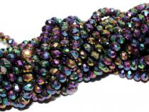 Rondell, ca.  4 x 6 mm, crystal-rainbow metallic, Strang