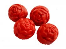 Lackperle Rose, 4 Stück