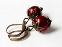Rote Beere Ohrhänger
