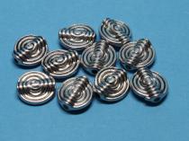 Schnecke, ca 11 mm, antiksilber, 10 Stück