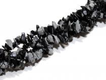 Schneeflocken-Obsidian Splitterstrang, ca. 5-7mm, ca. 80 cm lang