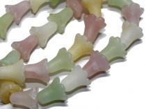 Edelstein Tulpe, ca. 13 mm, matt, Mix B, Kurzstrang