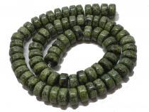 Serpentin Rondell, ca. 10 x 6 mm, Strang