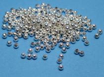 Metallperle, 3mm, schlicht, silberf., 100 Stück