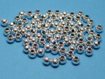 Metallperle, 5 mm, schlicht, silberf., 100 Stück