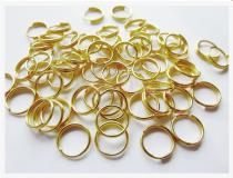 Spaltring, ca. 6mm, goldfarben 100 Stück