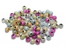 Stardust Perlen, ca. 4 mm, bunt, Acryl, 100 Stück