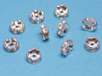 Strassrondell, rund, ca. 8 mm, silberf., 10 Stück