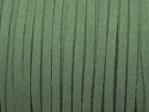 0,45 €/m Velour Wildleder Imitat Band, ca. 3 x 1,5 mm, 3 Meter, Farbwahl