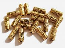 Walze, Zylinder, Stäbchen, Spacer, ca. 8 x 3 mm, goldf., 20 Stüc