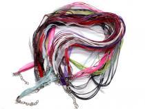 Organza Halsband bunt gemischt, 10 Stück