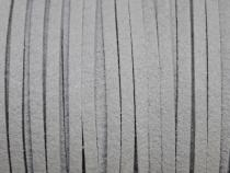 0,45 €/m Velour Wildleder Imitat Band, ca. 3 x 1,5 mm, 3 Meter, Farbwahl hellgrau