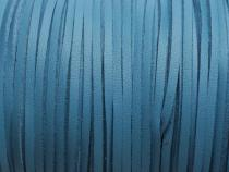 0,45€/M Lederimitat Band, ca. 3 x 1,5 mm, 3m, jeansblau