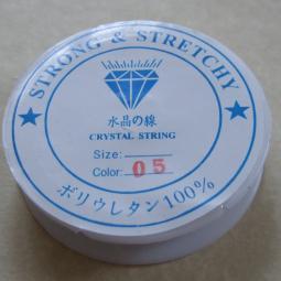 0,12€/m Stretchband, Nylon, kristallklar, 0,6 mm, 10 m