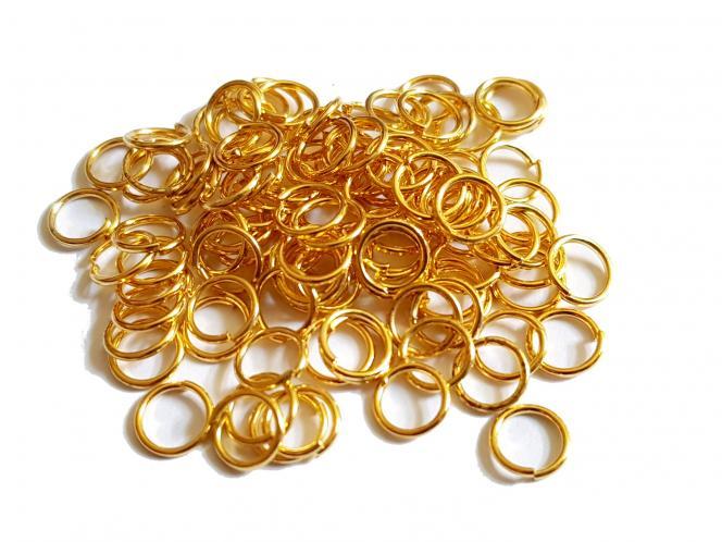 Binderinge, ca. 6/07 mm, goldfarben, 100 Stück