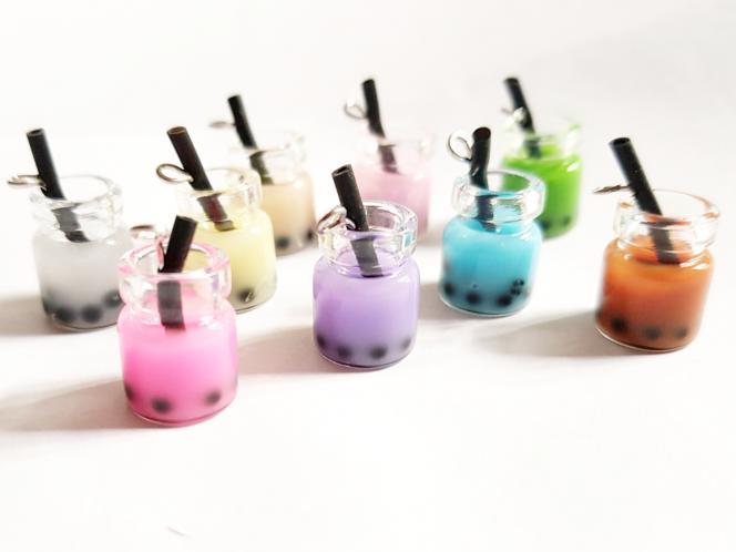 4 Glasanhänger Bubble Tea, Teebecher, Teeglas