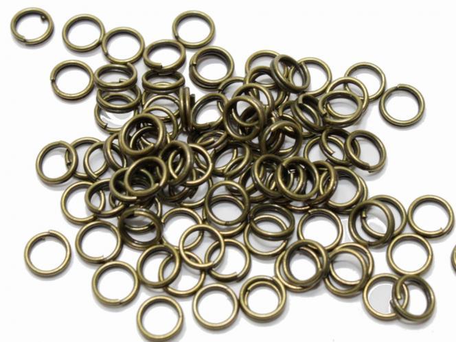 Binderinge, ca. 6/09 mm, bronzefarben, 100 Stück