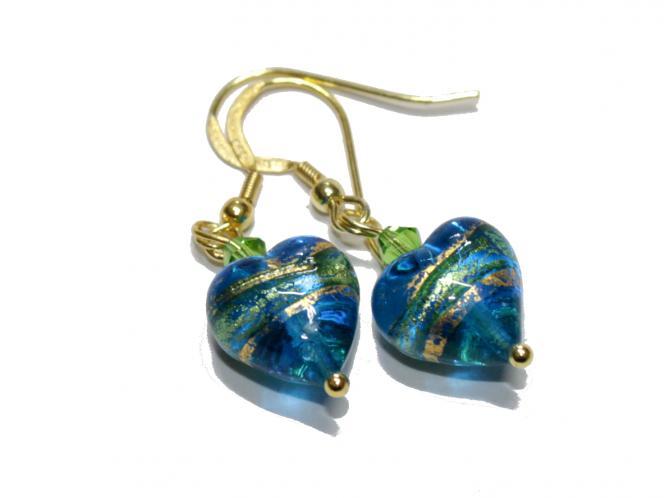 Ohrhänger Herz von Murano