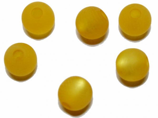 Polarisperle, rund, ca. 8 mm sonnengelb