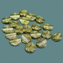 Schnecke, ca 11 mm, antikgold, 10 Stück