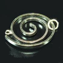 "Designerverschluss ""Spirale"", ca. 25 mm, 925/- Silber"