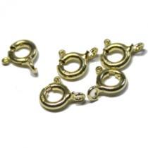 Federring, ca. 6 mm, 925/- Silber vergoldet