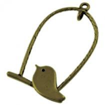 Vogel im Käfig, bronze, 5 Stück