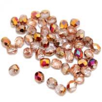 Glasschliffperle, ca. 4 mm, crystal copper, 50 Stück