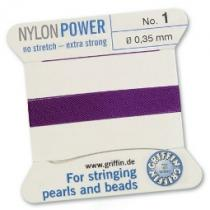 0,83 €/m Griffin Perlseide Nylonpower, amethyst, No 2 ca. 0,45 mm