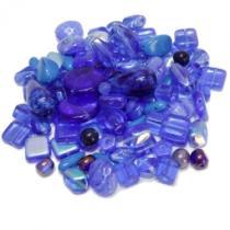 0,13 €/g Böhmische Glasperlen Dark Blue, Mix, 50 Gramm