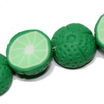 Polymer Perle Limette, 4 Stück
