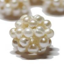Perlenball, cremeweiss, ca 18 mm