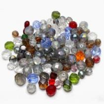 0,08 €/g Böhm. Glasschliffperlen Mix II, Mischung, 50 Gramm