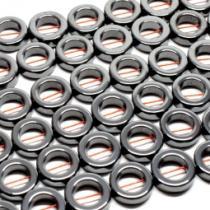 Hämatit Ring, ca. 12 mm, Strang, poliert