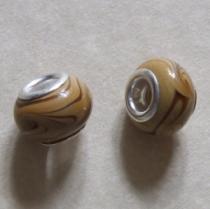 Modulperle Karamell, ca. 12 x 9 mm